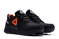Мужские осенние кроссовки Reebok Classic Tracking  Orange  натуральная кожа (реплика)