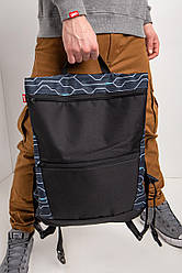 Большой городской рюкзак-трансформер с внешними карманами на молнии