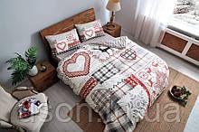 Комплект постельного белья из фланели евро размер ТМ Tac SAVINA