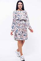 Романтичное платье Шейла с цветочным принтом в стиле бохо 42-52 размеры цветной принт