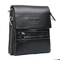 Чоловіча сумка DR. BOND 15*19*5 шкіряний клапан, фото 1