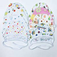 Шапочки, чепчики для новорожденных с начёсом 56,62,68,74см