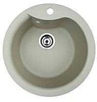 Мийка кухонна гранітна Ego Round (495x495x240)