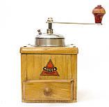 Старая немецкая ручная кофемолка, деревянный корпус, стальной механизм, Германия, Mocca geschmiedetes Mahlwerk, фото 2