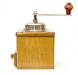 Старая немецкая ручная кофемолка, деревянный корпус, стальной механизм, Германия, Mocca geschmiedetes Mahlwerk, фото 5
