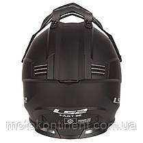 МОТОШЛЕМ  КРОСС MX437 FAST EVO MATT BLACK  XS,S,M,L,XL,XL, фото 2