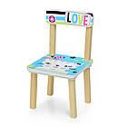 Детский стол с двумя стульчиками Bambi 501-58-2 Голубая кошка ***, фото 2