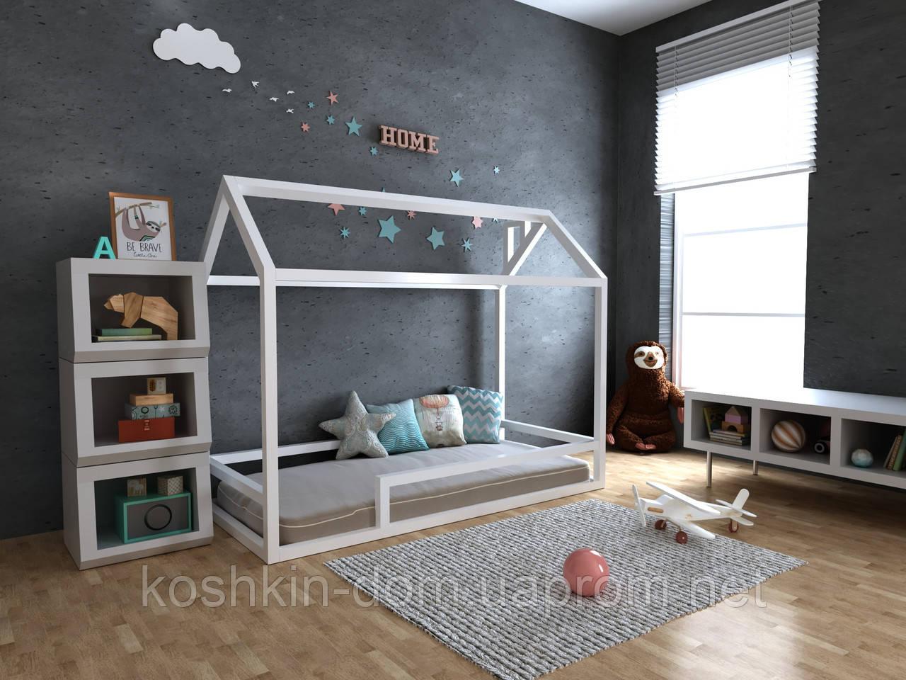 Кровать домик Анетти плюс натуральное дерево