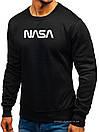 Чоловічий світшот Nasa (Nasa) чорний (велика емблема) толстовка лонгслив (чоловічий світшот), фото 2