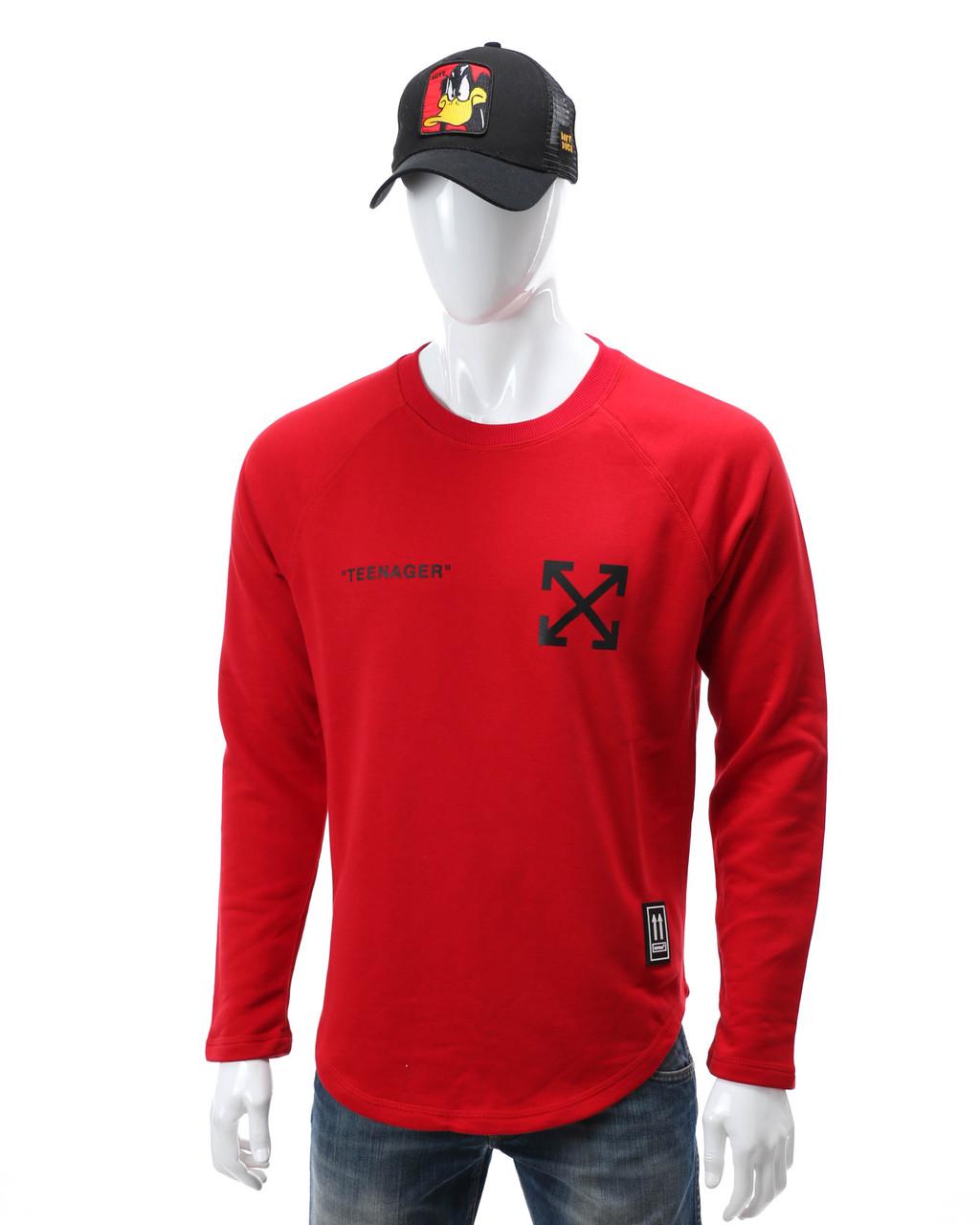 Свитшот красный OFF-WHITE teenager Р-2 RED L(Р) 20-511-201-001