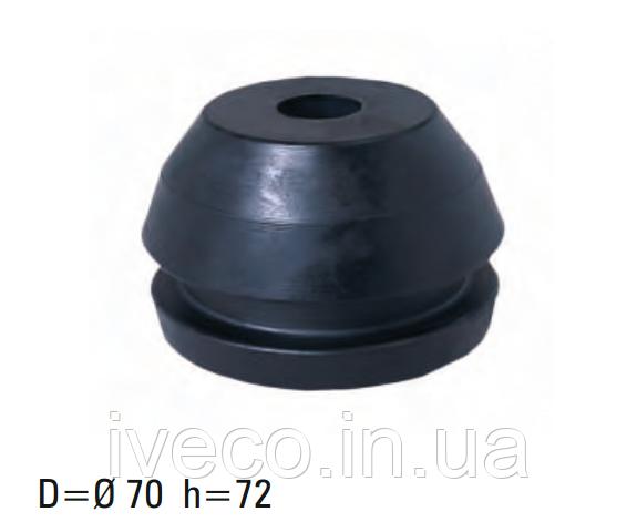 Подушка двигателя MAN, 70x72  усиленная, 81960200372, 81960200340