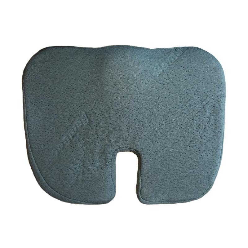 Ортопедическая подушка на сидение упругая с чехлом из бамбукового волокна