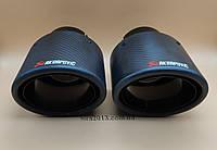 Овальные насадки глушителя Акрапович Akrapovic 75mm-115x95 матовый карбон для Audi Q7 Volkswagen BMW Ford