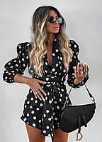 Женский модный комбинезон с широкими рукавами и поясом
