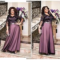 Нарядна сукня з сітки на підкладі та кружева, фото 1