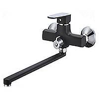 Смеситель для ванной с длинным гусаком Mixxus Missouri 006 Euro black