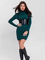 Базовое вязаное платье. Женская теплая одежда РАЗНЫЕ ЦВЕТА