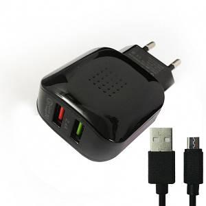 СЗУ Grand GQ-C01 DualUSB 1xQC3.0 + micro cable