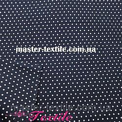 Сорочкова тканина горох 2 мм (чорний/білий)