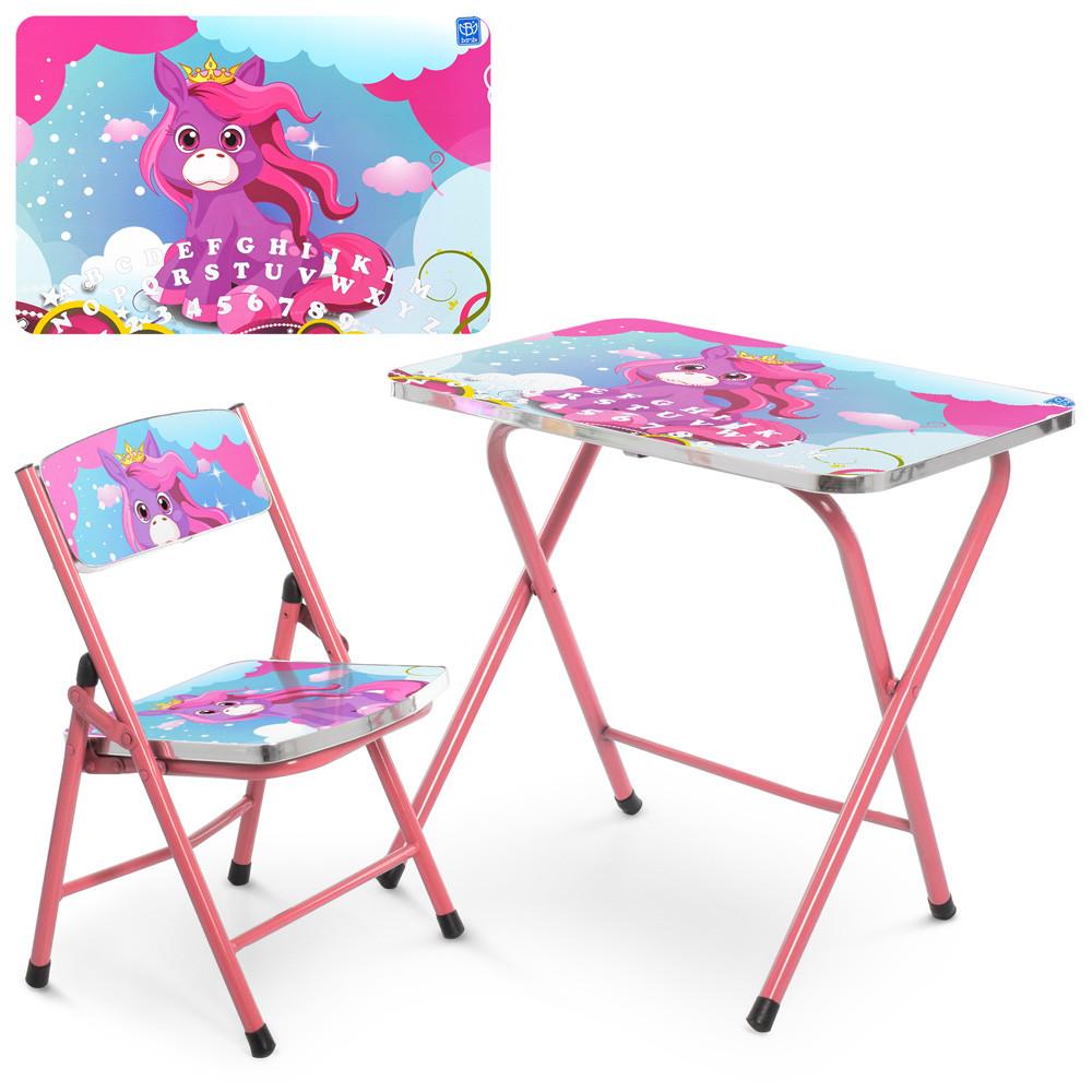Детский столик складной A19-NEW UNI Единорог ***