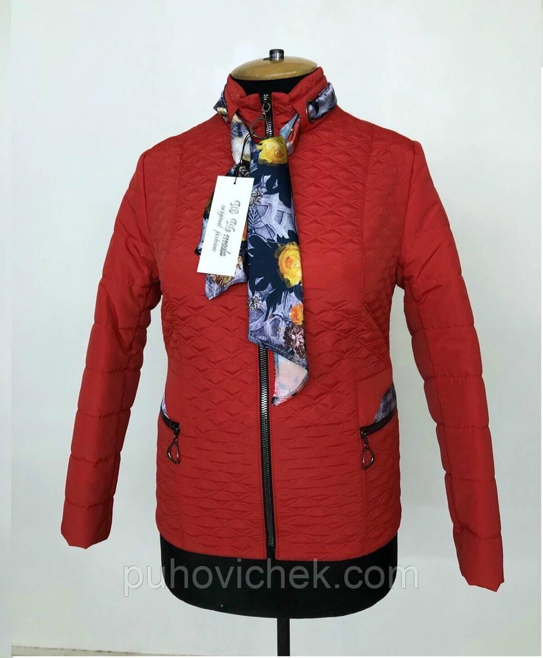Демисезонная женская куртка стильная размеры 50-60