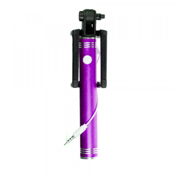 Monopod with cable metall pink