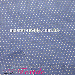 Сорочкова тканина горох 2 мм (блакитний/білий)