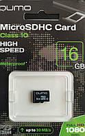 Карта памяти микро SDHC Qumo16 гб класс 10 без адаптера