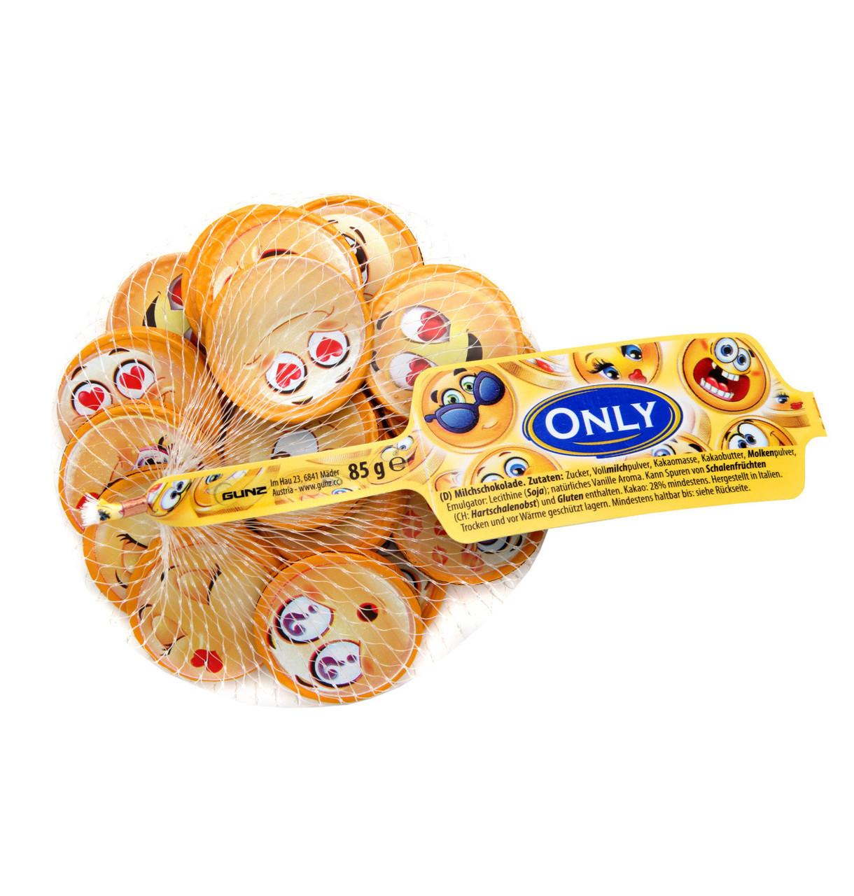 Молочний шоколад Only Смайлики сітка 85 г Австрія