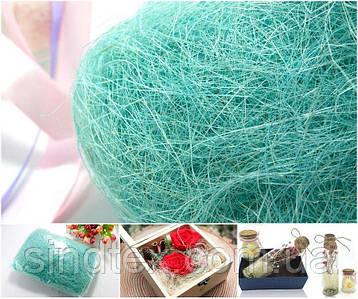 Сизаль натуральная (волокна сизаля)100грамм Цвет - Ментол (сп7нг-4137)
