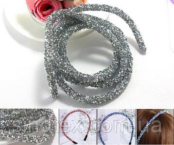 (1метр) Полый шнур покрытый конусными стразами. Цена за 1 метр Цвет - Серебро (сп7нг-4119)