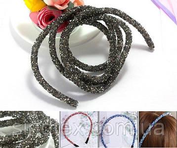 (1метр) Полый шнур покрытый конусными стразами. Цена за 1 метр Цвет - Тёмный графит (сп7нг-4120)