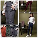 Брюки модные замшевые с высокой талией, для девочек размеры 134 - 164, фото 10