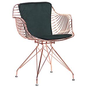 Кресло Ibis, rose gold, emerald TM AMF