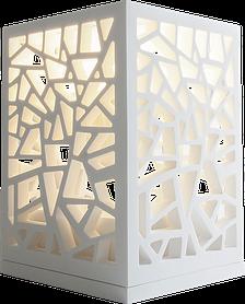 Светильник декоративный ажурный, каменный Solid surface 150*150*220мм
