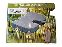 Ортопедическая подушка на сидение упругая с чехлом из бамбукового волокна, фото 2