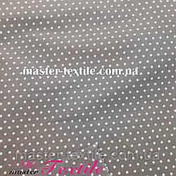 Сорочкова тканина горох 2 мм (сірий/білий)