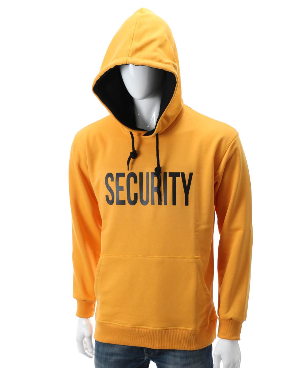 """Худи желтый HOPE с принтом """"SECURITY"""" Т-2 YEL L(Р) 20-577-201"""