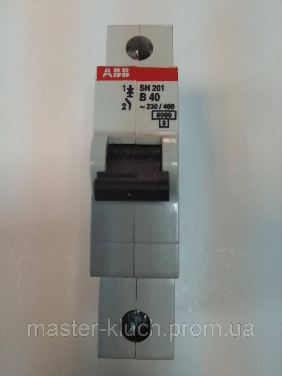 Автоматический выключатель АВВ SH201 В40A