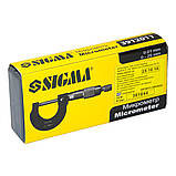 Мікрометр 0-25мм SIGMA (3912011), фото 5