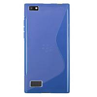 Силиконовый чехол Duotone для Blackberry Leap синий, фото 1