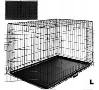 Металлическая клетка для животных, клетка для собак L 91x57x64