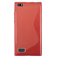 Силиконовый чехол Duotone для Blackberry Leap красный