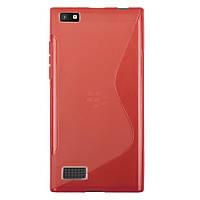 Силіконовий чехол Duotone для Blackberry Leap червоний, фото 1