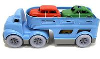 Игрушка машина трейлер.Игровой набор трейлер с машинами.Машина игрушечная пластмассовая.