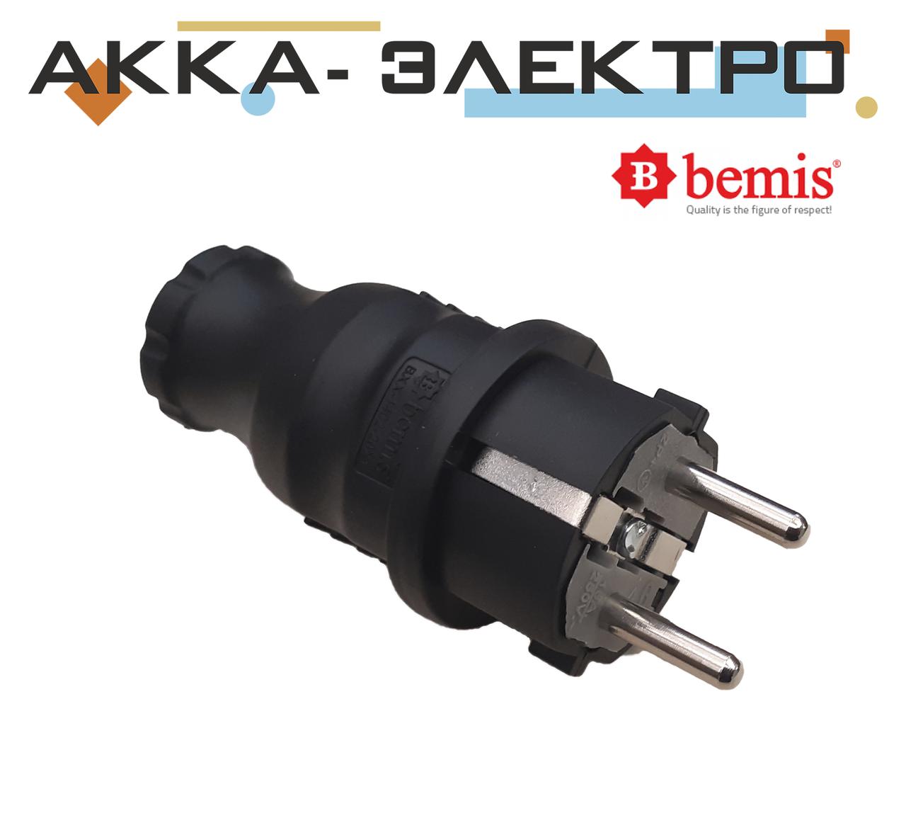 Вилка каучукова пряма 220В 16А BEMIS (BK1-1402-2011)