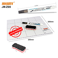 Коврик магнитно-маркерный для запчастей Jakemy JM-Z09 (3 предмета) (250ммx250ммx5мм)