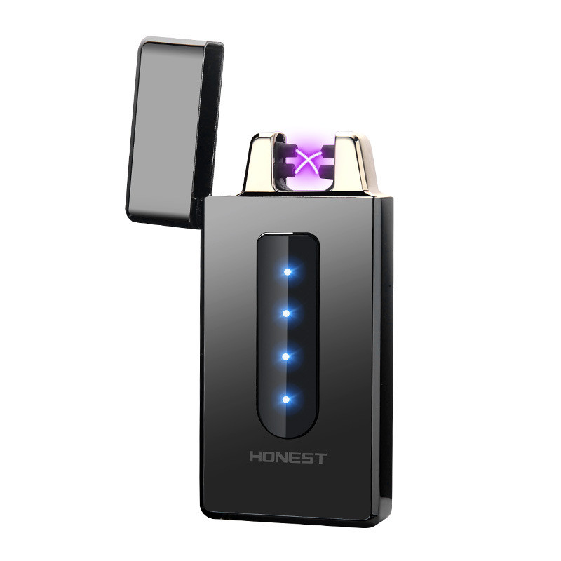 Электроимпульсная USB зажигалка Swipe black 105_1
