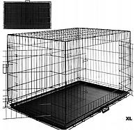 Металлическая клетка для животных, клетка для собак XL 107x69x76