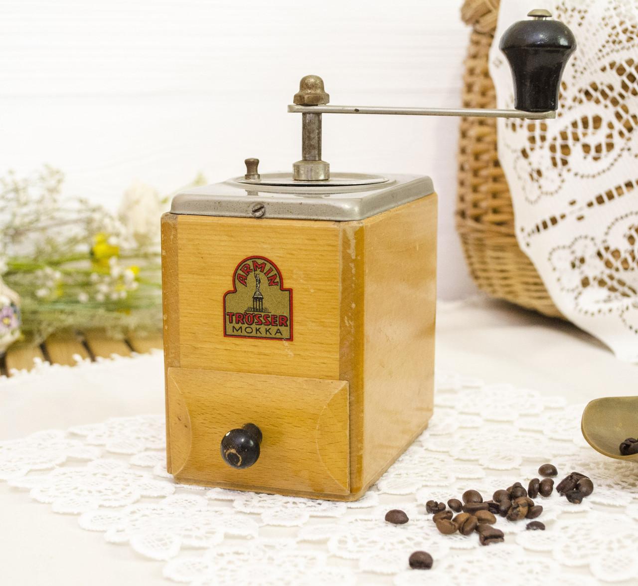 Старинная немецкая кофемолка, деревянный корпус, Armin Trosser Mokka, Германия